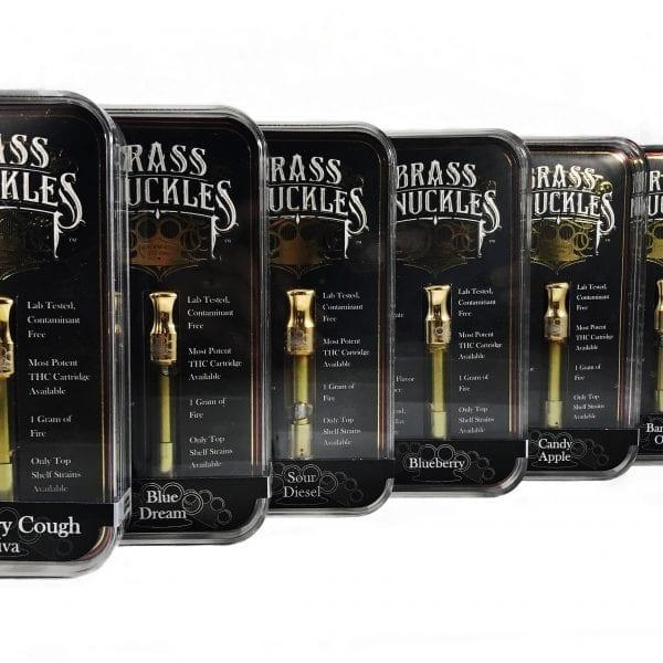 BRASS KNUCKLES CLEAR HIGH THC VAPE CARTRIDGES