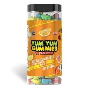 Yum Yum Gummies 1000x - CBD Infused Sour Bears