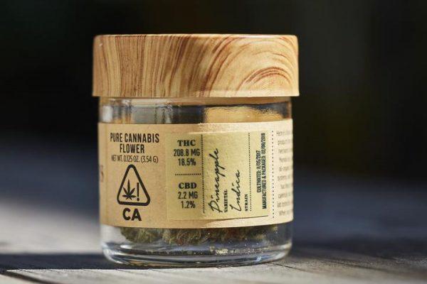 Pineapple 1/8th Oz. Jar from henry's original THC 18.5%